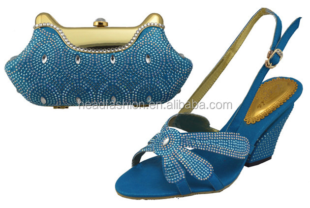 2014 8cm high heel ladies shoes and matching bags/ new arrival italian matching shoes and bags for wedding