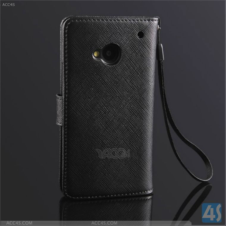 Android Phone Leather Wallet Case for HTC ONE M7 P-HTCONEM7CASE011