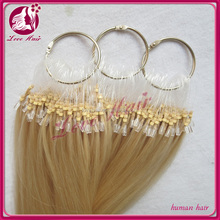 Virgin remy human hair Micro ring loop hair extension brazilian micro ring loop hair extensions