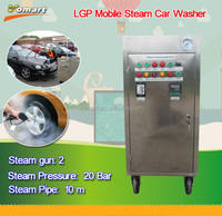 20 bar LPG mobile steam car washer/steam car mat cleaning with machines