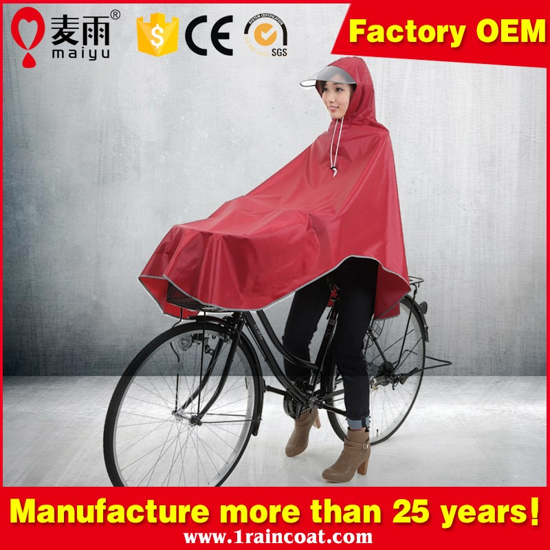 Maiyu OEM 100% waterproof breathable bike rain jacket