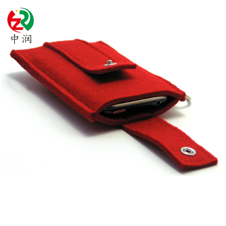 Hot selling cell phone cover new design mobile phone sleeve eco-friendly durable felt phone case
