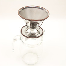 Hot selling ceramic dripper stainless steel pour over coffee pot