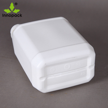 2.5L square HDPE plastic water/wine/oil container with handle and cap