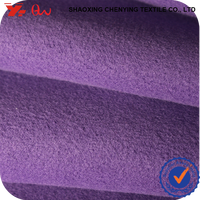100% thick polyester purple dyed fabric textile