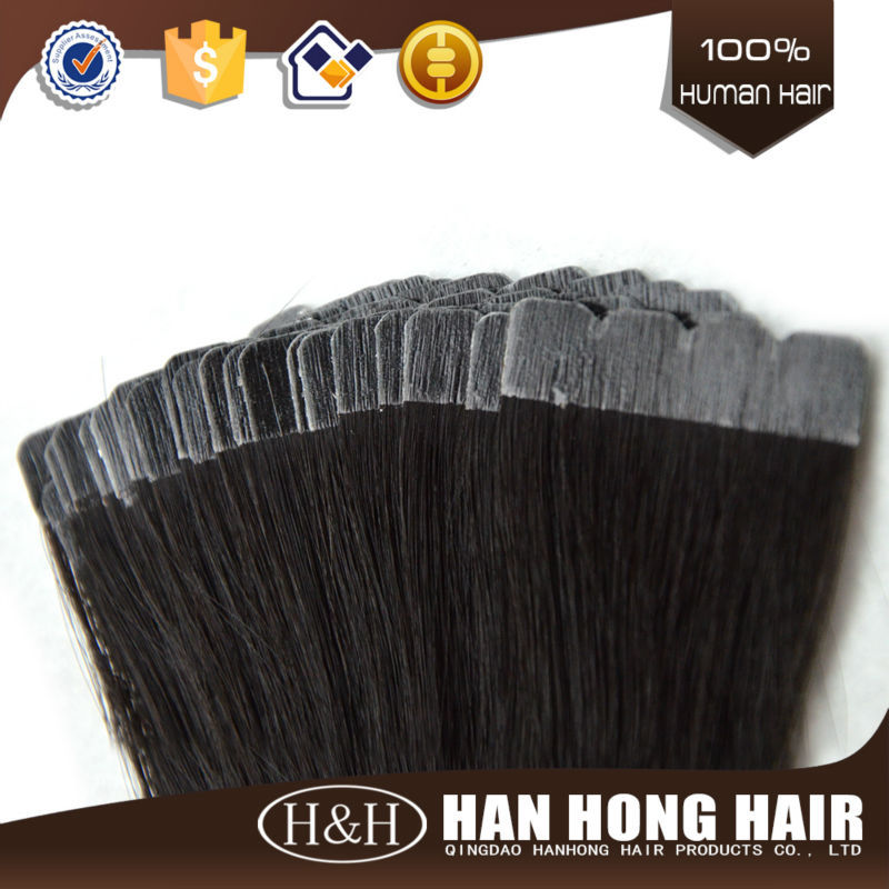 Qingdao hair manufacturer natural virgin indian remy human hair 26 inches hair extension tape