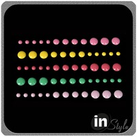 Hotsale Colorful 3D Enamel Dot Stickers
