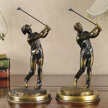 Resin golf statues bronze golf figurines