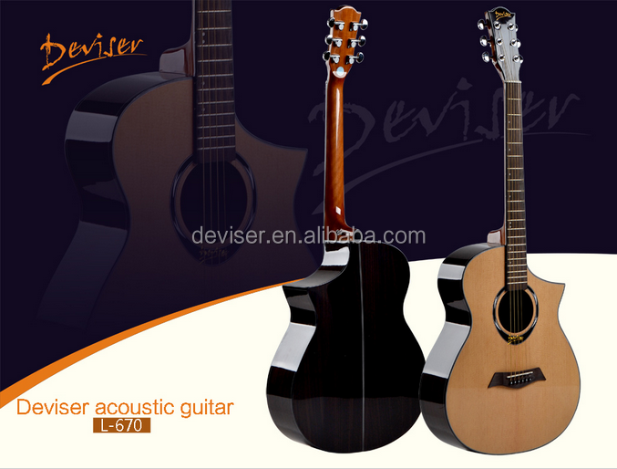Hot sell China 40 inch acoustic kapok guitar