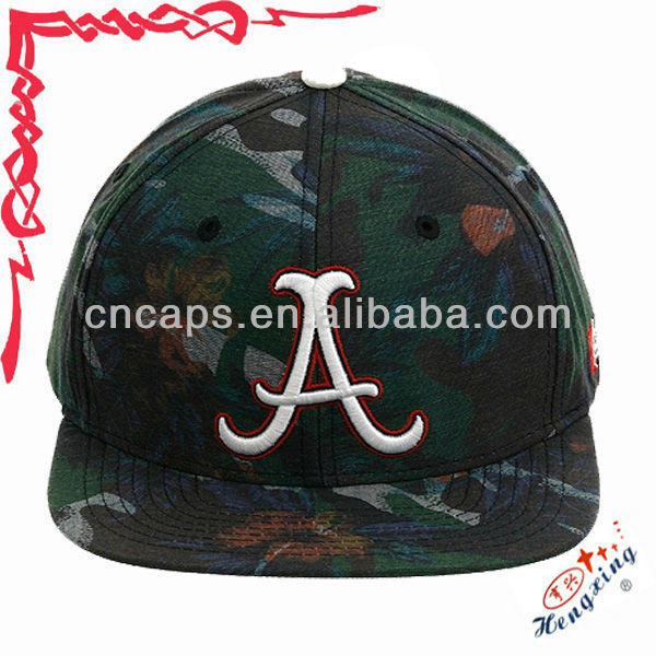 Embroidered plain army snapback cap/hats