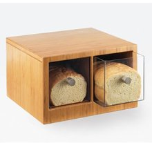 bamboo bread food container with acrylic drawer sets