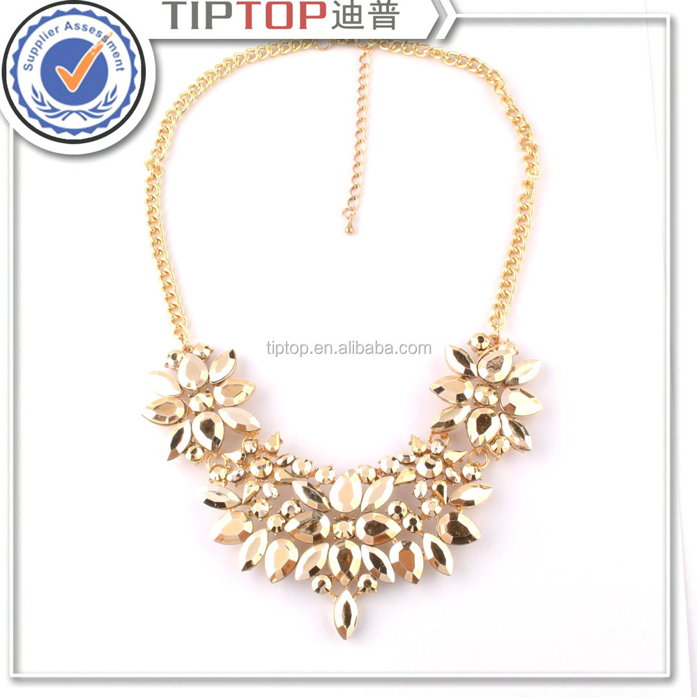 wholesale fashion plating color acrylic link necklace for women