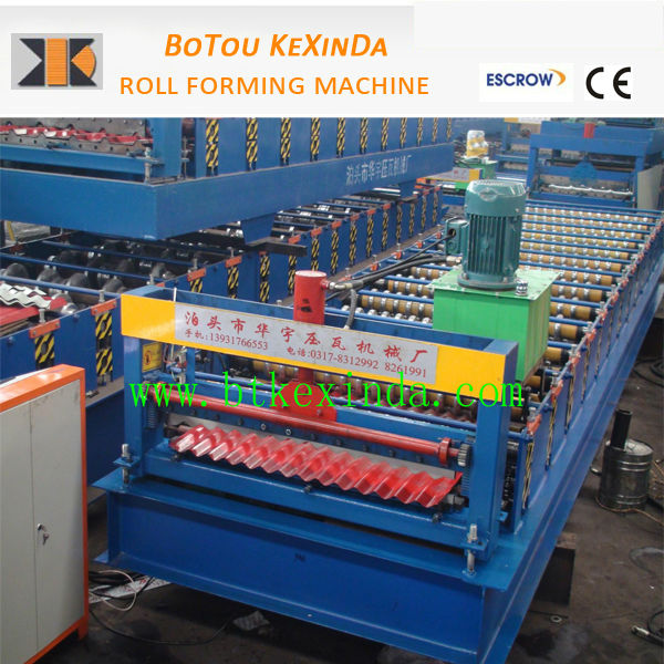colour steel metal roof shingles roll forming machine ce hi-rib metal roof roll forming machine roof profiling machine