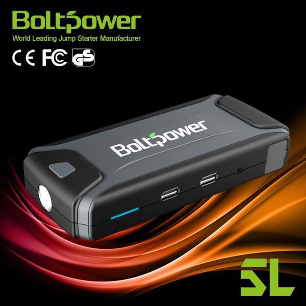 Micro USB 5V/1A input& 1 USB 2.0 output,5V/2.1A automotive power starters with Variety of Chargers, Jump Leads