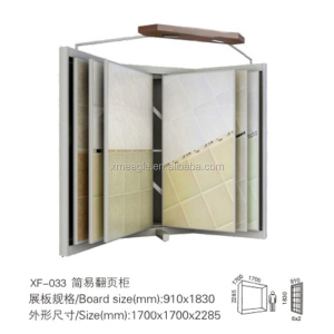 Ceramic tile display stand, wooden floor display rack floor tile sample board