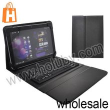 Wireless Bluetooth Keyboard+Folio Stand Leather Case Cover for Samsung Galaxy Tab 10.1 P7510 P7500