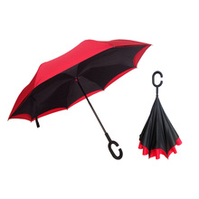 Windproof Double Layer Upside Down Inverted Folding Free Handle Reverse Umbrella