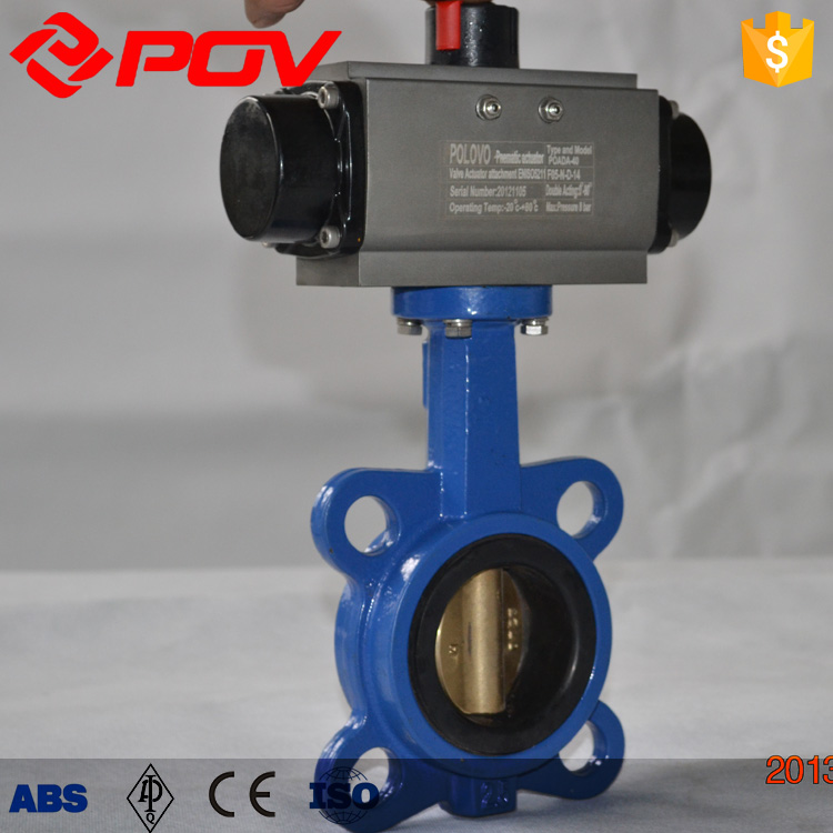 regulating type pneumatic butterfly valve with positioner