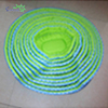 Excellent OEM animal bedding Blue and green Round Shaped Cotton Pet Dog Bed