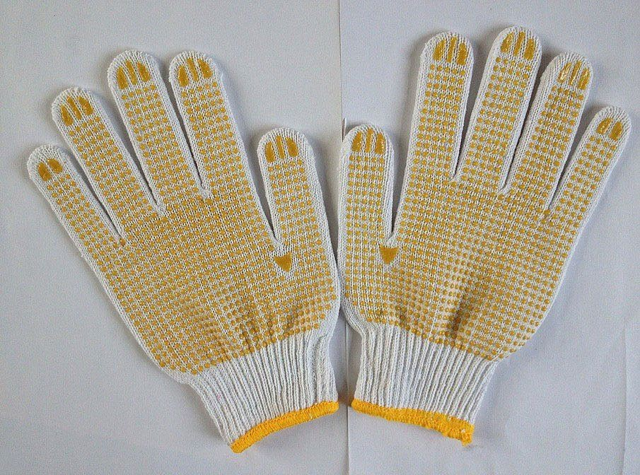 Cheap PVC Dotted Gloves/wor glove/pvc glove