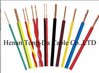 PVC insulated wire with rated voltage up to 450/750v