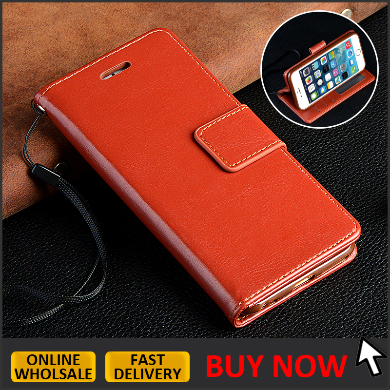 IN STOCK // PU leather flip cover for iphone 6 6s leather wallet case with credit card slots