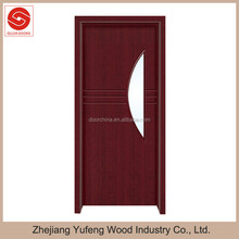 mdf interior wooden swing pvc glass kitchen door design