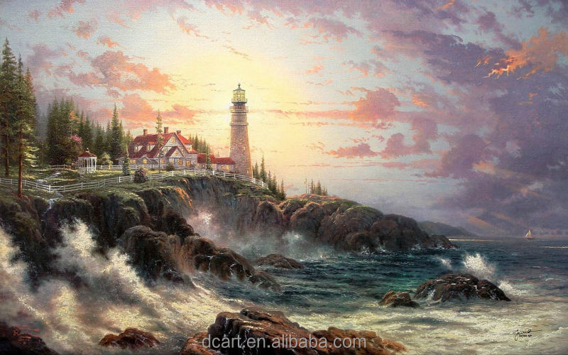 Clearing Storms Of Thomas Kinkade High Quality Hot Sell Paintings