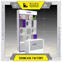Mall kiosk cosmetic shops name,special design cosmetic display stands