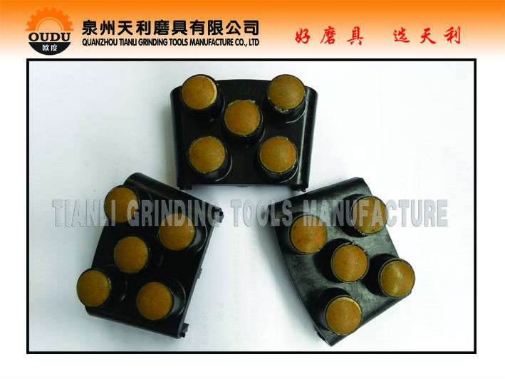 5 Dots Concrete Surface Resin Polishing Pads for Floor Grinders