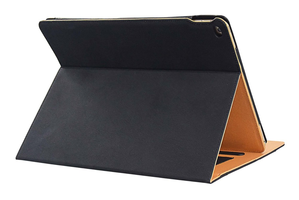 Amazon tan style stand cover for iPad pro case with document holder