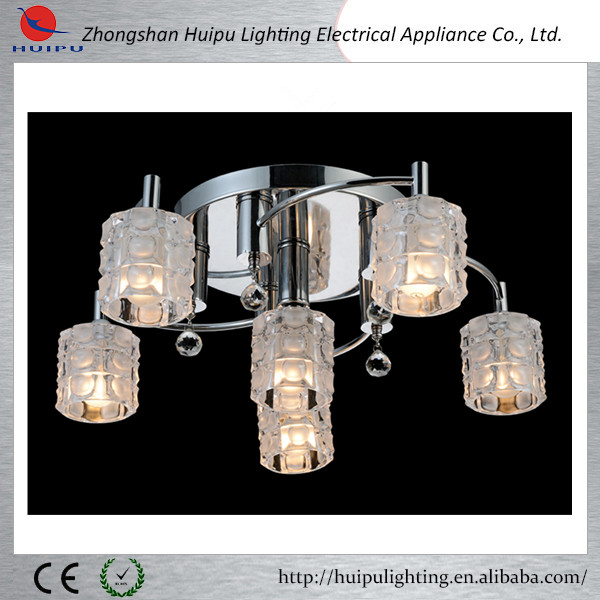 iron and glass material ceiling lamp modern lighting
