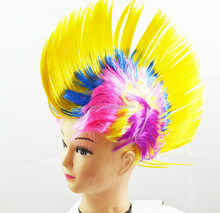 Fancy fashionable kids dress cheap costume wigs multi color punk short mohawk wig top quality W4045