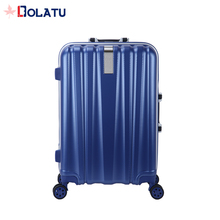 2017 Fashionable ABS+PC Aluminum Trolley Hard Travel Case Luggage With High Quality