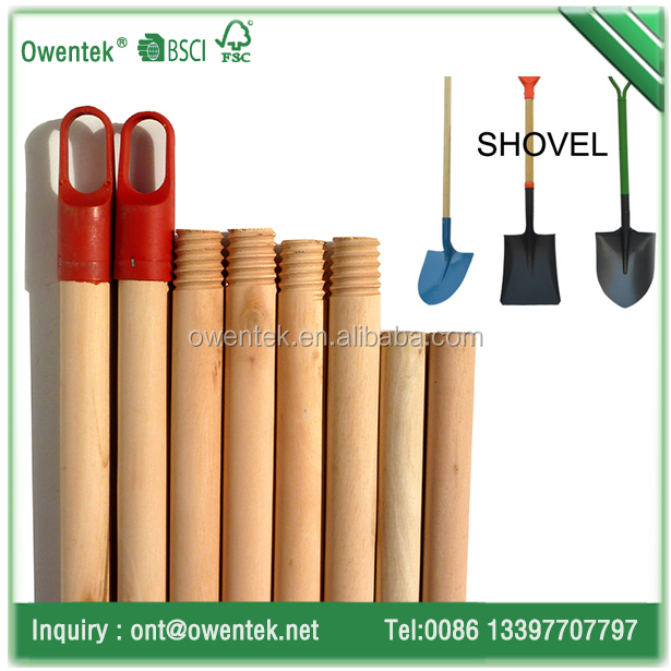 Best quality natural round wood poles pine broom hand with different hook and plastic screw