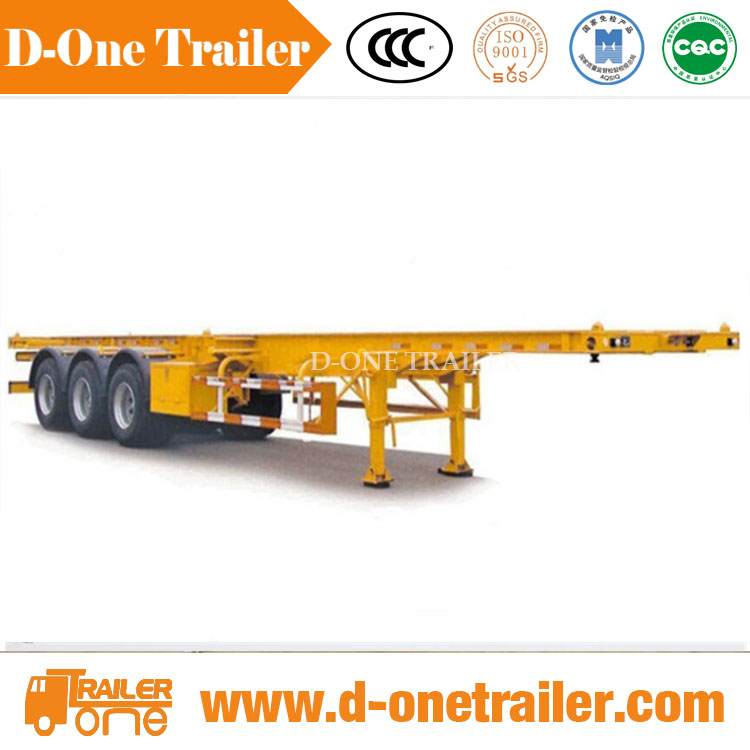 kuwait imports and exports 40 / 45ft custom chassis semi trailer for container trailer