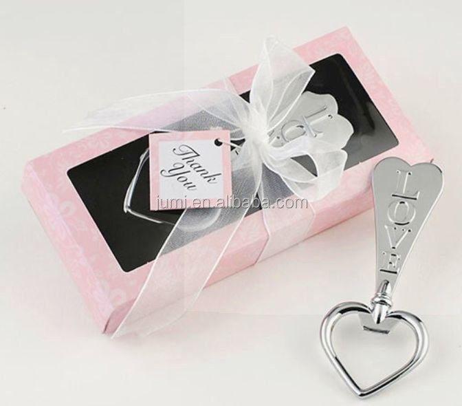 party stainless steel love heart shape metal bottle opener <strong>wedding</strong> favors gifts