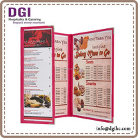 Leatherette holder 6 View Panel Pocket Menu Cover , hot retail product