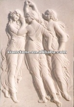 White marble wall sculpture