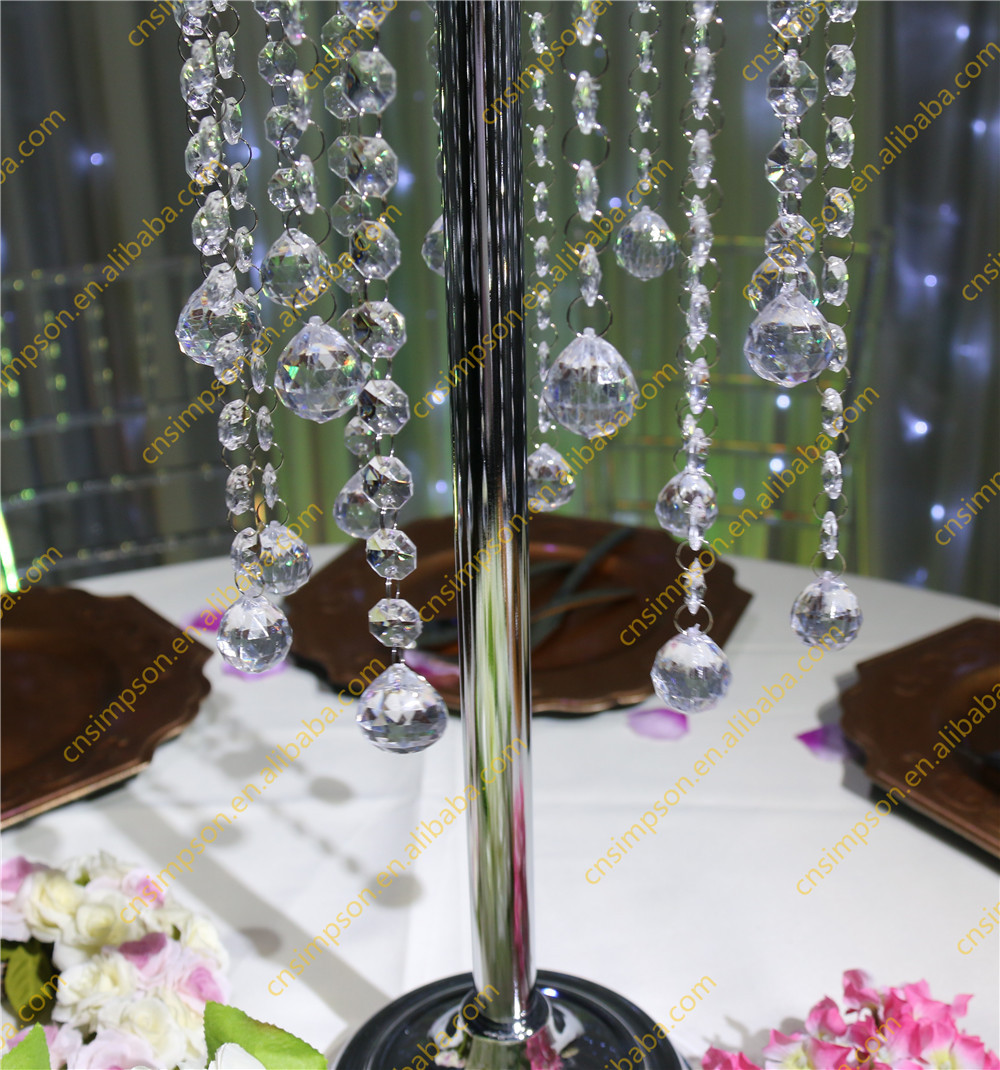 Crystal table top chandelier centerpieces for weddings for Buy wedding centerpieces
