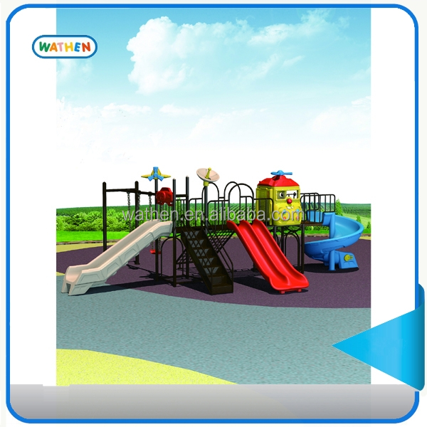 combine slide swing playground equipment with high quality