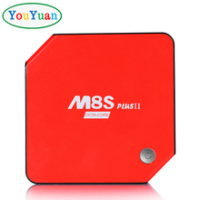 YOUYUAN Best android tv box M8S PLUS II 3G 32G Amlogic S912 CPU 2.4G/5.8G dual wifi Bluetooth 4.0,M8S+