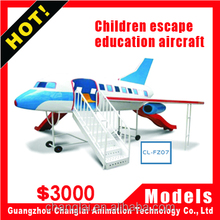 Virtual reality Educational plane driving simulator for Children to train escape