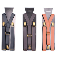 Stylish Fashion colors available Leather Braces Suspenders For men
