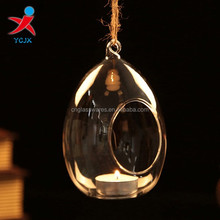 hanging tear drop glass votive candle holders