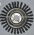 MADE IN CHINA 6 inch Crack Cable Twist Knot Wire Wheel, Arbor Hole 5/8 to 1/2""