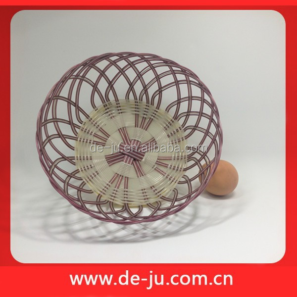 Colorful Cheap Plastic Cane Covered Wicker Baskets