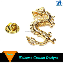 Gold Dragon Lapel Pin for Men Suits Men's Lapel Pins