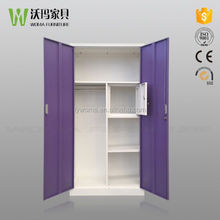 New style india steel almirah designs / 2 door metal locker wardrobe