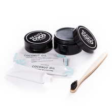 Oral Hygiene Kit Organic Coconut Shell Activated Charcoal Toothpaste Teeth Whitening Charcoal Powder